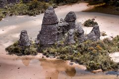 Bizarre ancient rocks of the plateau Roraima tepui - Venezuela, Latin America Royalty Free Stock Photos