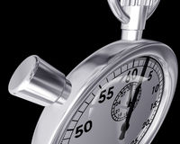 Bizarre angle of a stopwatch Royalty Free Stock Images