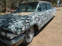 Hand painted Cadillac royalty free stock images