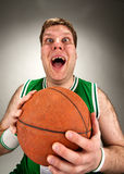Bizarre basketball player Royalty Free Stock Photos