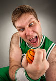 Bizarre basketball player Royalty Free Stock Images
