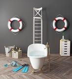 Bizarre bathroom Stock Image