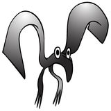 Bizarre black bird Stock Photography