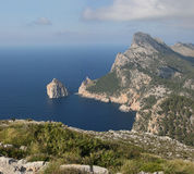 Bizarre Cabo Formentor (Majorca, Spain) Stock Images