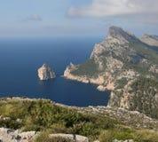 Bizarre Cabo Formentor (Majorca, Spain) Stock Images