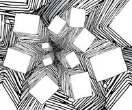 Bizarre cartoon fractal like background Stock Photo