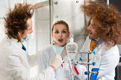 Bizarre chemists Royalty Free Stock Image