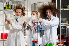 Bizarre chemists Royalty Free Stock Images