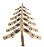 Bizarre Christmas tree from the old yokes Royalty Free Stock Photography