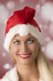 Bizarre christmas woman Stock Images