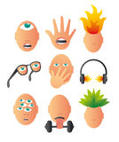Bizarre conceptual icons Stock Photo