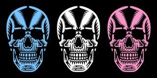 Bizarre dode hoofden vector illustratie