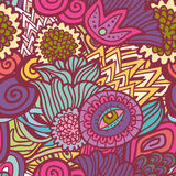 Bizarre floral seamless pattern Royalty Free Stock Photography