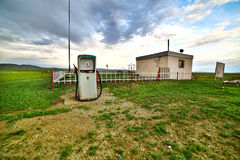 Bizarre gas station pump, mongolia Stock Image