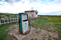Bizarre gas station pump, mongolia Royalty Free Stock Photos
