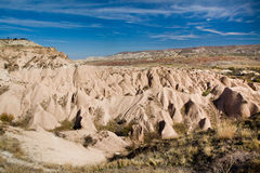 Bizarre geological formations in Cappadocia Stock Photography