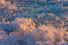 Bizarre Ice Crystals Stock Photo
