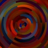 Bizarre Kleurrijke Cirkels Abstract Vormenmozaïek Decoratieve Cirkelstrepen Creatieve kunstachtergrond Gekleurde Illustratie Stock Fotografie