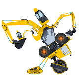 Bizarre machine robot Royalty Free Stock Images