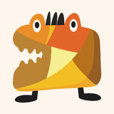 Bizarre monster flat icon elements,eps10. Vector illustration file Royalty Free Stock Image