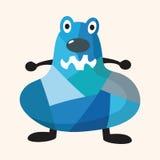 Bizarre monster flat icon elements,eps10. Vector illustration file Stock Image