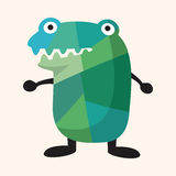 Bizarre monster flat icon elements,eps10 Stock Photography
