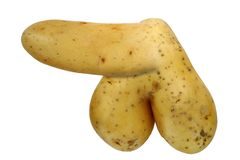 Bizarre potato Stock Photography