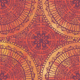 Bizarre red ethnic  seamless pattern Royalty Free Stock Image