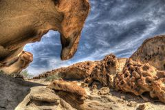 Bizarre Rock Formations. In the namibian desert close to blutkuppe Stock Image