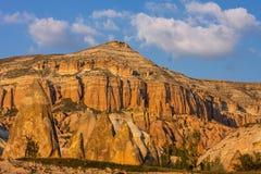 Bizarre rock formations of Cappadocia, Turkey. The bizarre rock formations of Cappadocia, Turkey Stock Photos