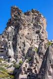 Bizarre rock formations of Cappadocia, Turkey. The bizarre rock formations of Cappadocia, Turkey Stock Photography