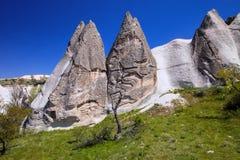 Bizarre rock formations of Cappadocia, Turkey Royalty Free Stock Image