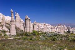 Bizarre rock formations of Cappadocia, Turkey Stock Image