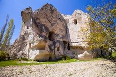 Bizarre rock formations of Cappadocia, Turkey. The bizarre rock formations of Cappadocia, Turkey Royalty Free Stock Photos