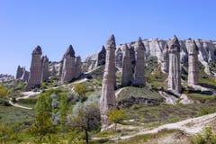 Bizarre rock formations of Cappadocia, Turkey. The bizarre rock formations of Cappadocia, Turkey Royalty Free Stock Image