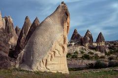 Bizarre rock formations in Cappadocia. Turkey Stock Images