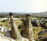 Bizarre rock formations of Cappadocia, Turkey Stock Photography