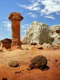 Bizarre Rock Formations, Desert Landscape Stock Image