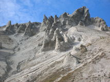 Bizarre rock formations. On the Fuorcla da Livigno in northern Italy Royalty Free Stock Image