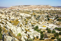Bizarre rock formations of volcanic Tuff in Capadocia Stock Image