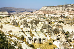 Bizarre rock formations of volcanic Tuff in Cappadocia Stock Image