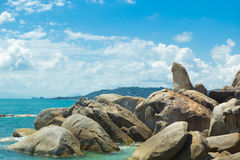 Bizarre rock (hin ta hin yai) famous landmark of Koh Samui Royalty Free Stock Photos