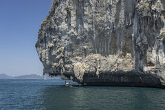 Bizarre rock south Thailand. Travel. Krabi. Bizarre limestone rock south Thailand. Travel. Krabi Royalty Free Stock Images