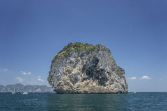 Bizarre rock south Thailand. Travel.Krabi. Royalty Free Stock Photography