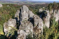 Bizarre rocks in Bohemian Paradise Royalty Free Stock Photos