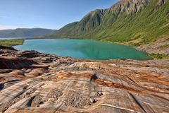 Bizarre rocks drained by glacier, Norway. The Bizarre rocks drained by glacier, Norway Stock Photography