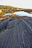 Bizarre rocks drained by the sea, Norway. The Bizarre rocks drained by the sea, Norway Royalty Free Stock Photos
