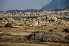 Bizarre rocks in Kazakhstan Royalty Free Stock Photography