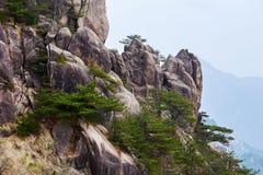 The bizarre rocks. The photo was taken in Mount Huangshan Stock Photos