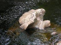Bizarre rotsvormingen, Randolphs-Sprong, Findhorn-Rivier, Schotland, het UK Royalty-vrije Stock Foto